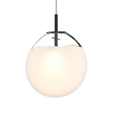 Haleigh 1-Light Globe Pendant Shade Finish: Poured White, Size: 18.75 H x 15 W x 4.5 D