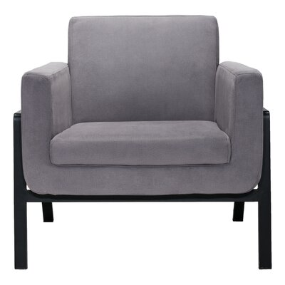 Susan Armchair Upholstery: Leatherette - Gray