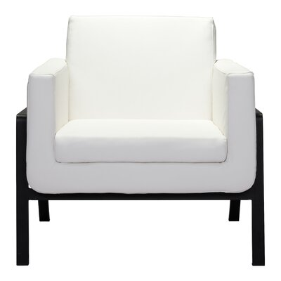 Susan Armchair Upholstery: Leatherette - White