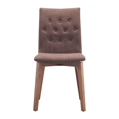 Maximus Side Chair Upholstery: Tabacco