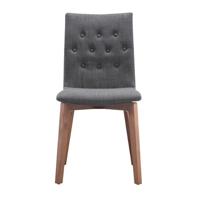 Maximus Side Chair Upholstery: Graphite