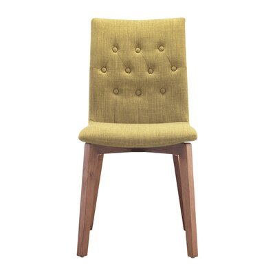 Maximus Side Chair Upholstery: Pea