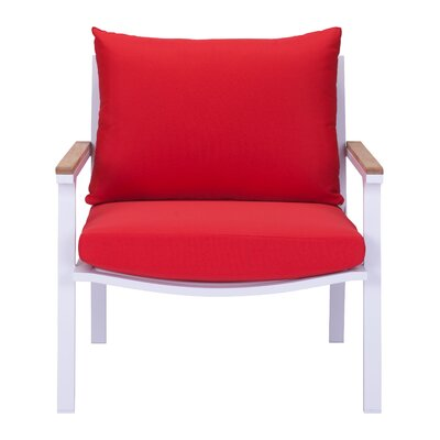 Gess Armchair Upholstery: Red