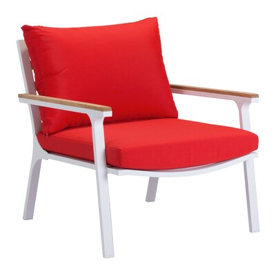 Gess Armchair Color: Red