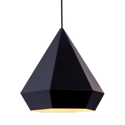 Trosper 1-Light Mini Pendant Finish: Black, Bulb Type: E26
