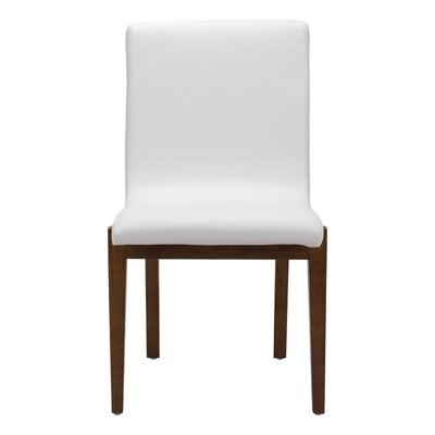 Jacquelyn White Leatherette Side Chair
