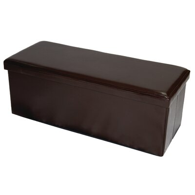 Meidinger Storage Ottoman Upholstery: Distressed Dark Brown