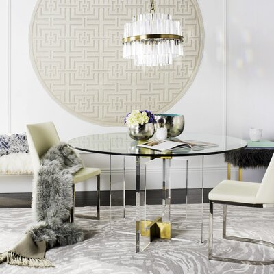 Garbutt Round Glass Dining Table