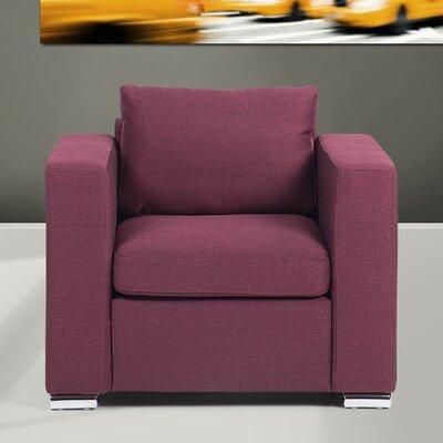 Holahan Armchair Color: Burgundy
