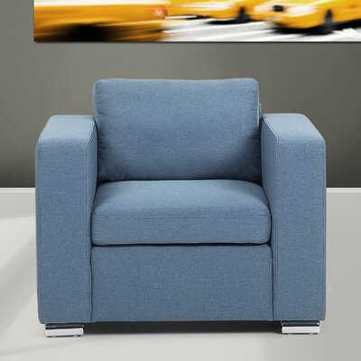 Holahan Armchair Color: Blue