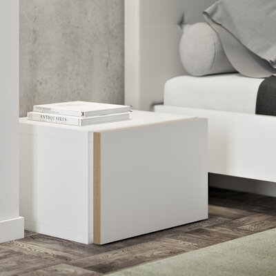 Horsham 1 Drawer Nightstand Color: Pure White