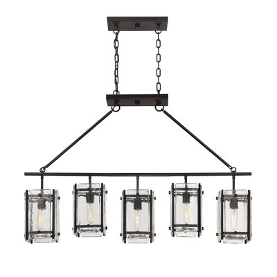 Dorota 5-Light Trestle Kitchen Island Pendant