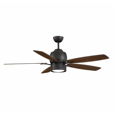 5 Blade Ceiling Fan with Remote Finish: English Bronze