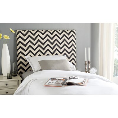 Cespedes Upholstered Panel Headboard Size: King, Upholstery: Black / White
