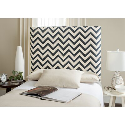 Cespedes Upholstered Panel Headboard Size: Full, Upholstery: Navy / White