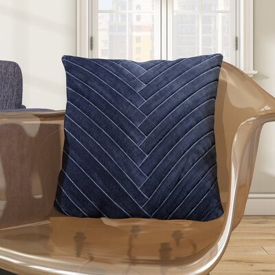 Northwick 100% Cotton Throw Pillow Color: Dark Denim