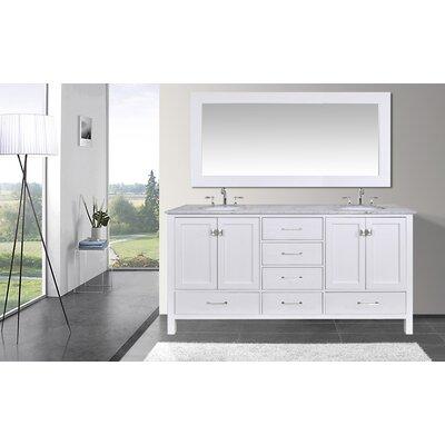 Ankney 72 Double Sink Bathroom Vanity with Mirror