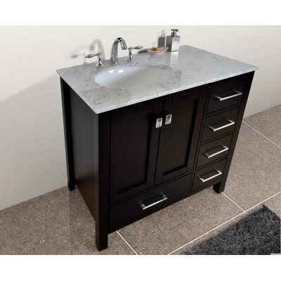 Ankney 36 Single Bathroom Vanity Set Base Finish: Espresso