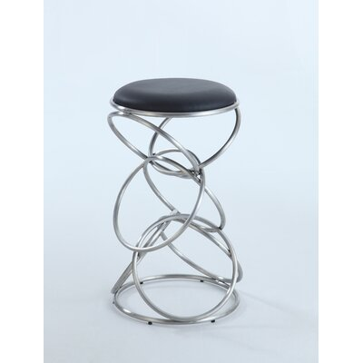 Strouth 25.59 Bar Stool Upholstery: Black