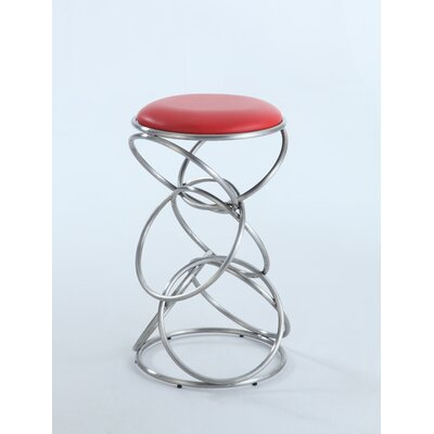 Strouth 25.59 Bar Stool Upholstery: Red