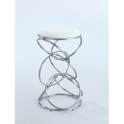 Strouth 25.59 Bar Stool Upholstery: White