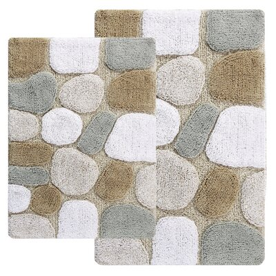 Knights 2 Piece Bath Rug Set Color: Spa