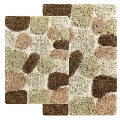 Hempstead 2 Piece Bath Rug Set Color: Khaki