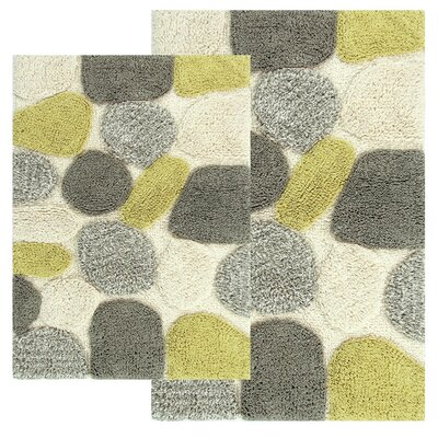 Hempstead 2 Piece Bath Rug Set Color: New Willow