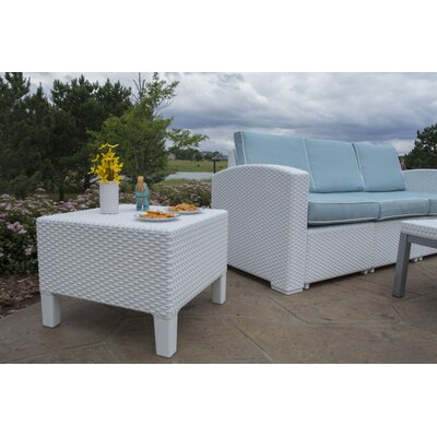 Loggins Patio Side Table Finish: White