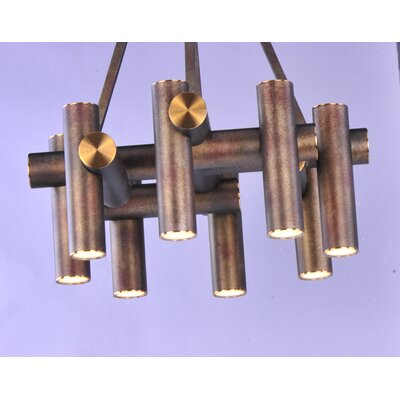 Caulfield 9-Light LED Shaded Chandelier