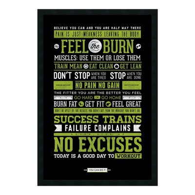 Gym - Motivational Framed Textual Art