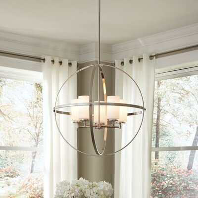 Haworth 5-Light Globe Pendant Finish: Brushed Nickel
