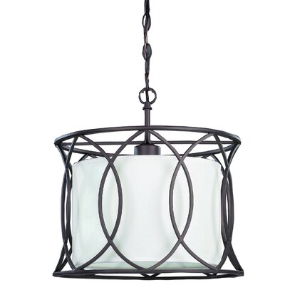 Tadwick 1-Light Drum Pendant Size: 14