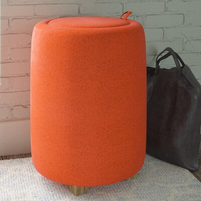 Logue Storage End Table Color: Burnt Orange