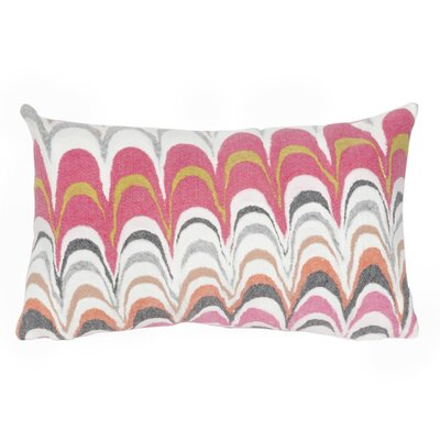 Tengan Floating Ink Lumbar Pillow Color: Pink