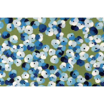 Tengan Pansy Doormat Color: Blue