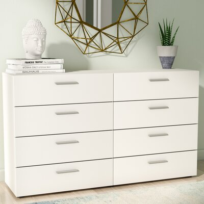 Hatboro 8 Drawer Dresser Color: White