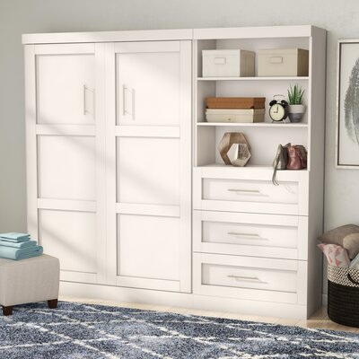 Walley Full Murphy Bed Color: White