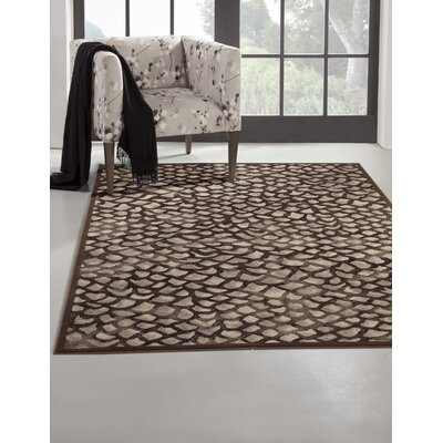 Foulds Chocolate/Grey Area Rug Rug Size: 53 x 76