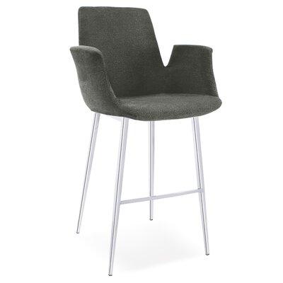 Kenia 38 Barstool Upholstery: Charcoal