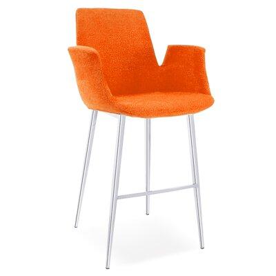 Kenia 38 Barstool Upholstery: Orange