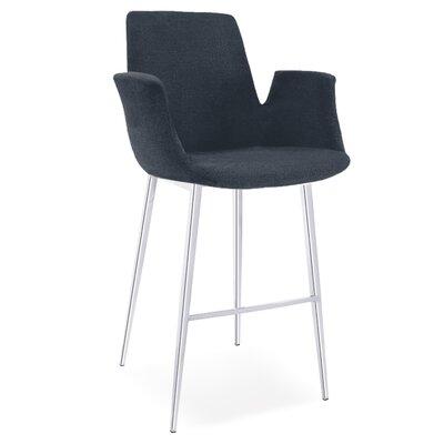 Kenia 38 Barstool Upholstery: Blue