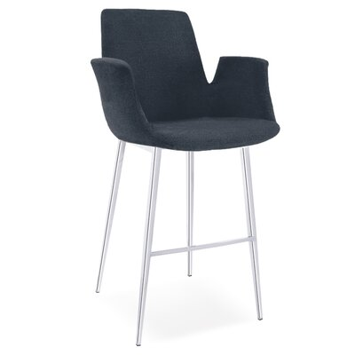 Kenia 38 Barstool Upholstery: Gray