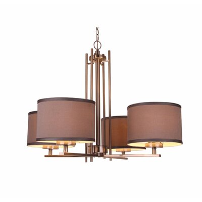 Juhasz Modern 4-Light Drum Chandelier Finish: Bronze, Shade Color: Gray