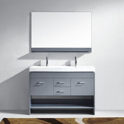 48 Double Bathroom Vanity Base Finish: Gray