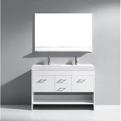 48 Double Bathroom Vanity Base Finish: White