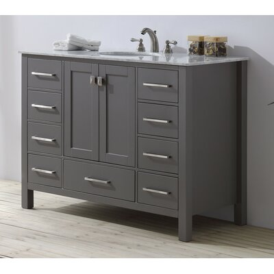Ankney 48 Single Bathroom Vanity Set Base Finish: Gray