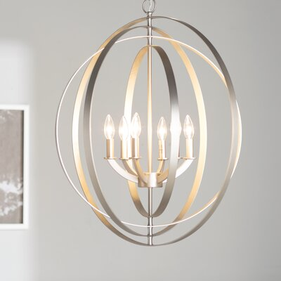 Morganti 6-Light Foyer Pendant Finish: Burnished Silver