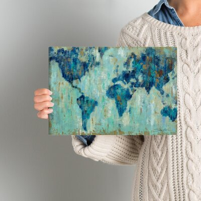 'Map of the World' Painting Print on Wrapped Canvas Size: 8