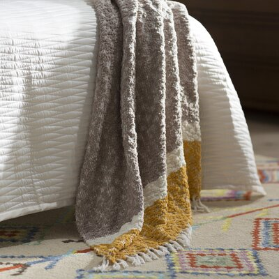 Broadnax Throw Color: Gray/Yellow/White